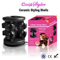 Ceramic Stylling Shells Curly, Concha Ceramica Rizos Cabello
