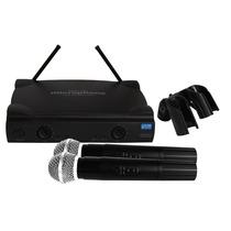 Set Microfonos Inalambricos 100m Frecu. Uhf Con Accesorios