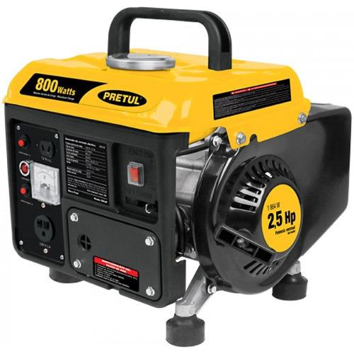 Generador electrico portatil a gasolina 800 w pretul 25100 for Generador electrico honda precio