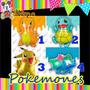 6 Globos Pokemon Go Pokemones 68-78cm Metalicos Pikachu