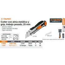 Cutter Metalico Cuchilla De 25 Mm