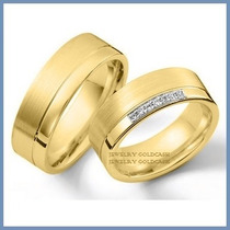 Argollas De Matrimonio Mod. Athena Oro Amarillo 10k Solido