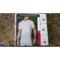 «o.luxuss» 3 Playeras Camisetas Tommy Hilfiger Talla L