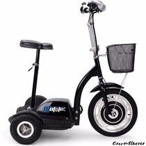 Scooter Eléctrico Tipo Segway Con Asiento 350w 36v 3 Llantas