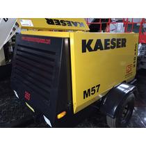 Capacidad 210pcm Compresor Kaeser M57 Motor Kubota