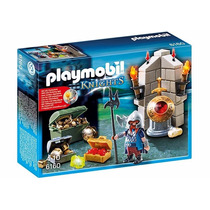 Playmobil 6160 Guardian Del Tesoro Dragon Medieval Retromex