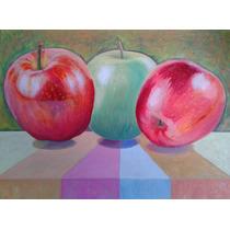 Pintura Óleo, Manzanas, Envío Gratis