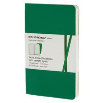Libreta Verde Bolsillo Rayas Pasta Blanda Moleskine Cuaderno