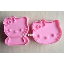 Fiesta De Hello Kitty,set 2 Cortadores De Galletas, Fondant
