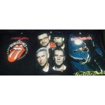 Playeras Rolling S,u2,iron Mendemn Manowar,beatles, Nirvana