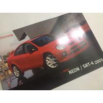 Dodge Neon /srt-4 2005 Folleto Publicitario
