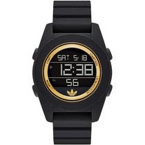Adidas Reloj Negro Redondo C/ Dorado 100% Original