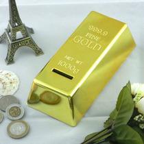 Alcancia Forma Barra De Oro Lingote De Oro