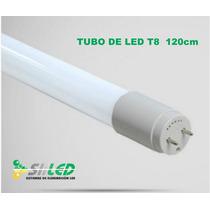 Tubo Led T8 De 18w 120cm Opalino De Cristal ¡oferta!