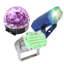 Paquete De Luces Leds Audio Rítmicas Efectos Bola Led Laserm