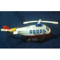 Helicóptero Juguete De Lámina Antiguo