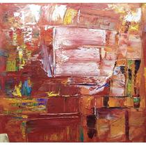 Pintura Abstracta Al Óleo: Cabaña Abstracta