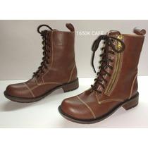 Bota Militar 1650 Bajo Cafe Tipo H&m Bershka Price Shoes