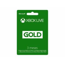 Membresia Xbox Live 3meses Gold, Envio Por Mail Gratis