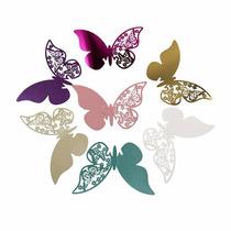Mariposas De Papel Decoración Copas Doradas