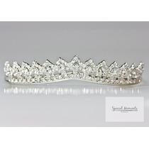 Bellísima Tiara Corona De Cristales Novia O Presentación