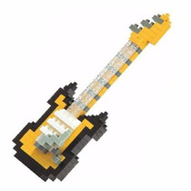 Figura Armables , Nanoblock Guitarra Eléctrica Oro