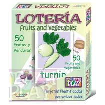 25023 Lotería Frutas Verd Ing Plastificada 68pzs Teach Play