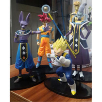 Figuras Dragon Ball Super Bills Goku Fase Dios Whis Vegeta