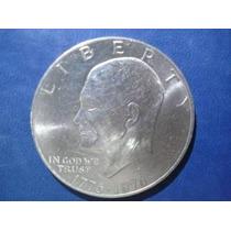 Norteamerica Moneda Un Dólar Bicentenario Fecha 1976 Níquel