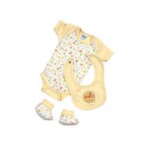 Pañalero Baby Set De 0 A 3 M-amarillo Ropa Bebe Baby Mink