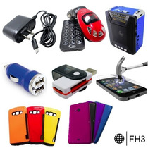 Lote Paquete Accesorios Celular Usb Micas Cables Iphone