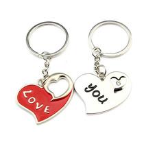 Llaveros De Corazón Enamorados Pareja Novios Regalo De Amor