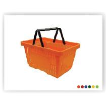 Canasta De Plástico Con Asas De 28 Litros / Jm Villegas