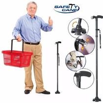 Baston Plegable Retractil Safety Cane Con Luz Original Tv