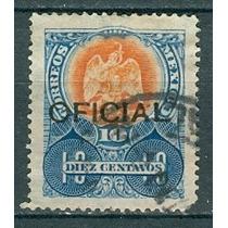Sc O69 Año 1910 Oficial Aguila 10c