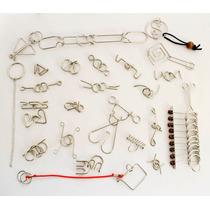 Paquete De 25pzs Rompecabezas De Alambre Metal Puzzle Bt069