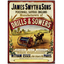 Cartel De Chapa - James Smyth & Sons Drill Y Sembradores De
