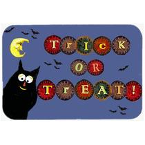 Truco O De Halloween Del Gatito De La Cocina O El Baño Mat