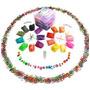 Bandas Â~º5000pc Rainbow Colored Loom Clear Box 3 Capas Orga