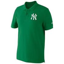 Playera Nike Cuello Tipo Polo Algodón Pique Mlb Yankees Xl