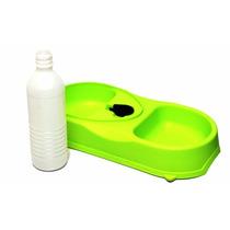 Plato Mascotas Dosificador Agua Alimento Doble Charola Bote