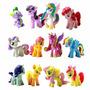 Set De 12 Little Pony Pvc Toy Cake Topper Twilight Sparkle