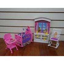 Barbie Tamaño Dollhouse Habitación Muebles- Nueva Baby Play