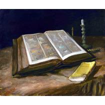 Lienzo Tela Biblia Vincent Van Gogh Arte 50x60 Decoración