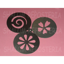 *kit 3 Stenciles Estenciles Pastel Azucar Cupcak Cafe Canela