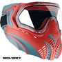 Careta Thermal Valken Identity Roja/gris Paintball Gotcha