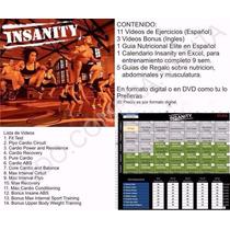 Insanity Workout, Calendario, Guia Nutricional + Bono + 2000