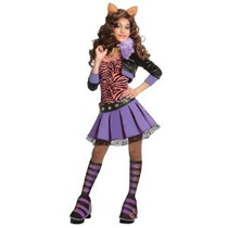 Monster High Deluxe Clawdeen Lobo Traje - Large