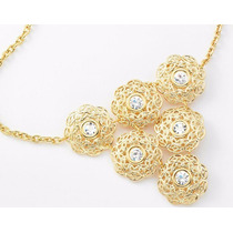 Collar Flores - 4 Baños De Oro 18k - De Lujo
