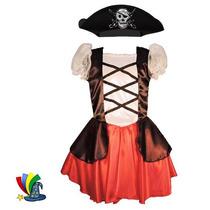 Disfraz Pirata Niña Con Sombrero Halloween